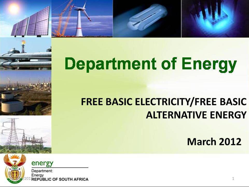 FREE BASIC ELECTRICITY/FREE BASIC ALTERNATIVE ENERGY March 2012 1/15/20151