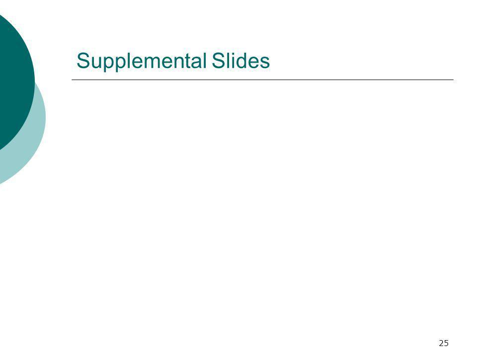 25 Supplemental Slides