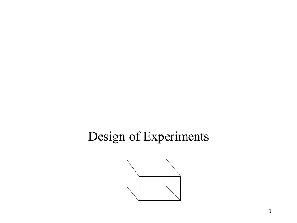 1 Design of Experiments