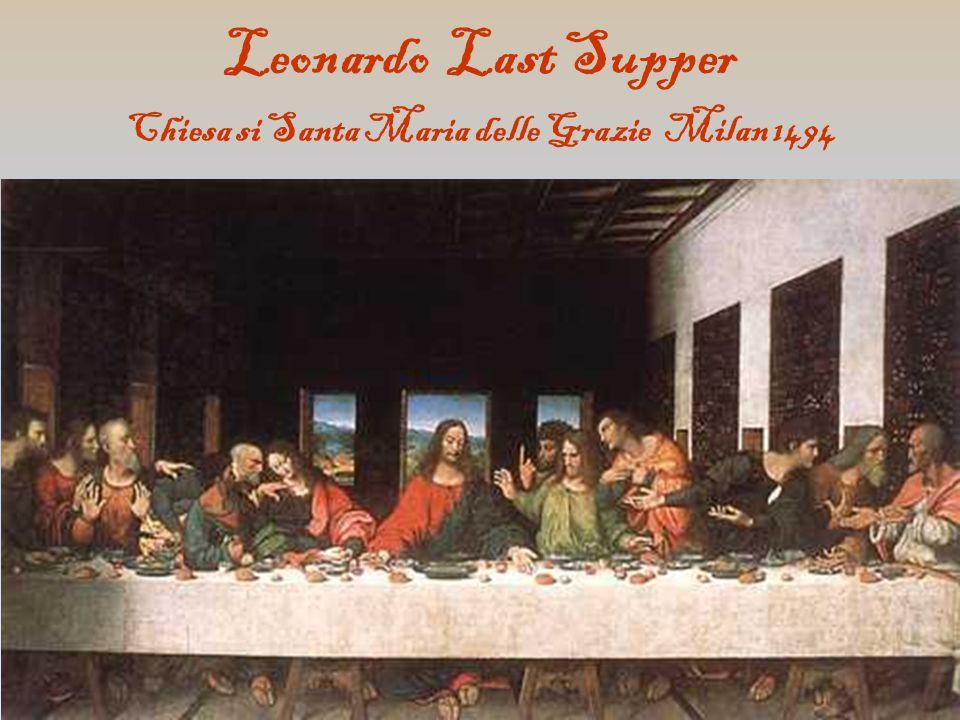 Leonardo Last Supper Chiesa si Santa Maria delle Grazie Milan 1494