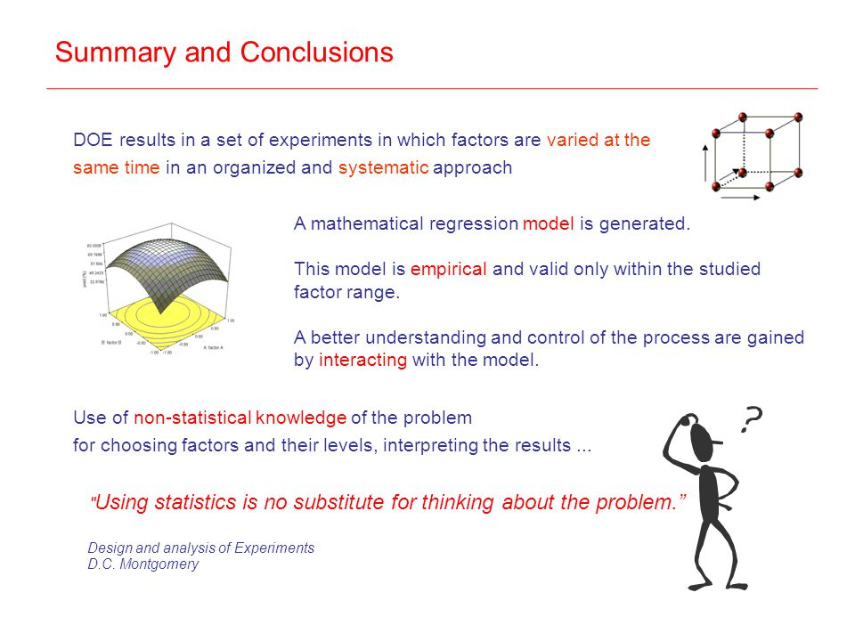 Summary and Conclusions A mathematical regression model is generated.