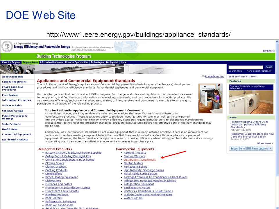 © ABB Group January 15, 2015 | Slide 14 DOE Web Site http://www1.eere.energy.gov/buildings/appliance_standards/