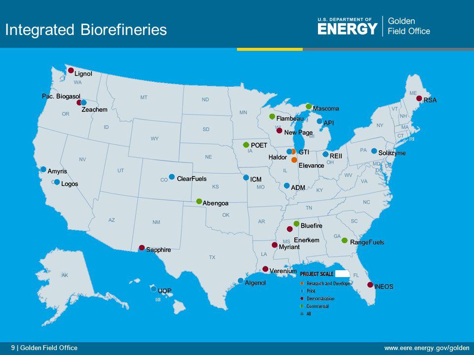 9 | Golden Field Officewww.eere.energy.gov/golden Integrated Biorefineries