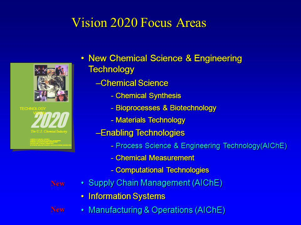 Vision 2020 and Manufacturing & Operations Technology Vision 2020: The US Chemical Industry  U.S.