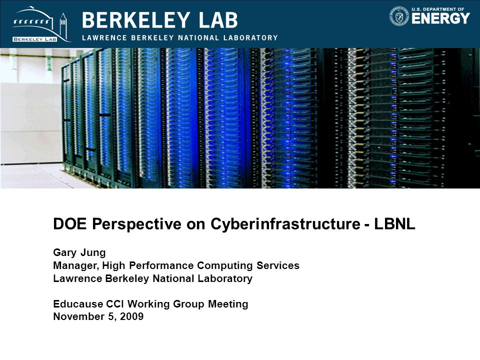 12 November 5, 2009 Points of Collaboration UC Berkeley HPCC o Recent high profile joint projects between UCB and LBNL encourages close collaboration o 25-30% of scientists have dual appointment o UC Berkeley proximity to LBNL facilitates the use of cluster services University of California Shared Research Computing Services pilot (SRCS) o LBNL and SDSC joint pilot for the ten UC campuses o Two 272-node clusters located at UC Berkeley and SDSC o Shared computing is more cost-effective o Dedicated CENIC L3 connecting network for integration o Pilot consists of 24 research projects