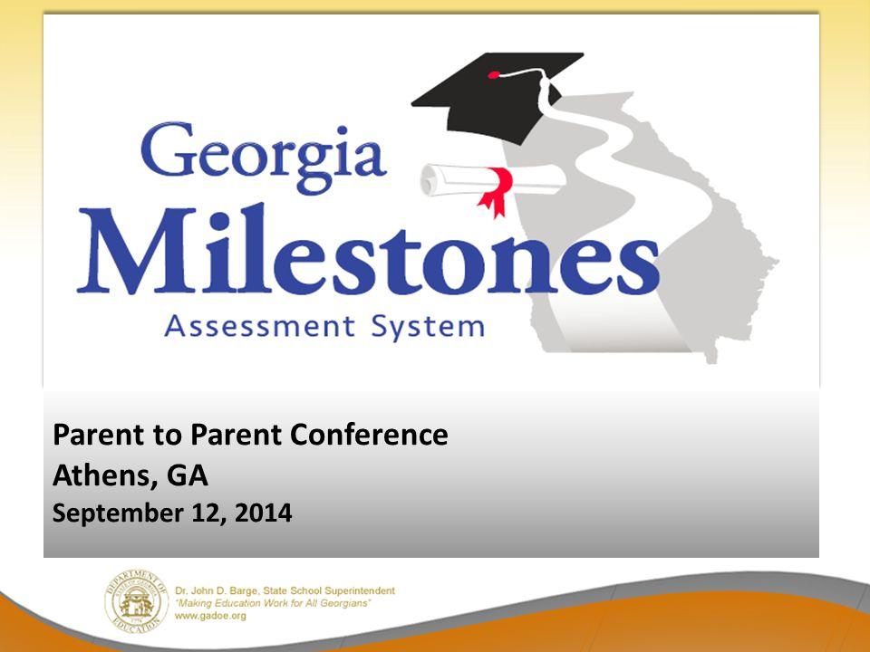 Parent to Parent Conference Athens, GA September 12, 2014