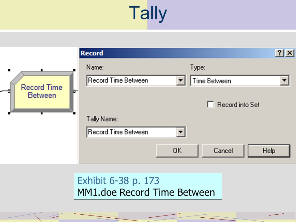 Tally Exhibit 6-38 p. 173 MM1.doe Record Time Between