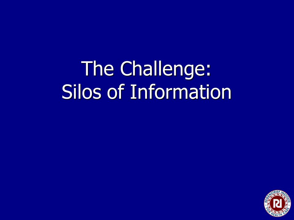 The Challenge: Silos of Information