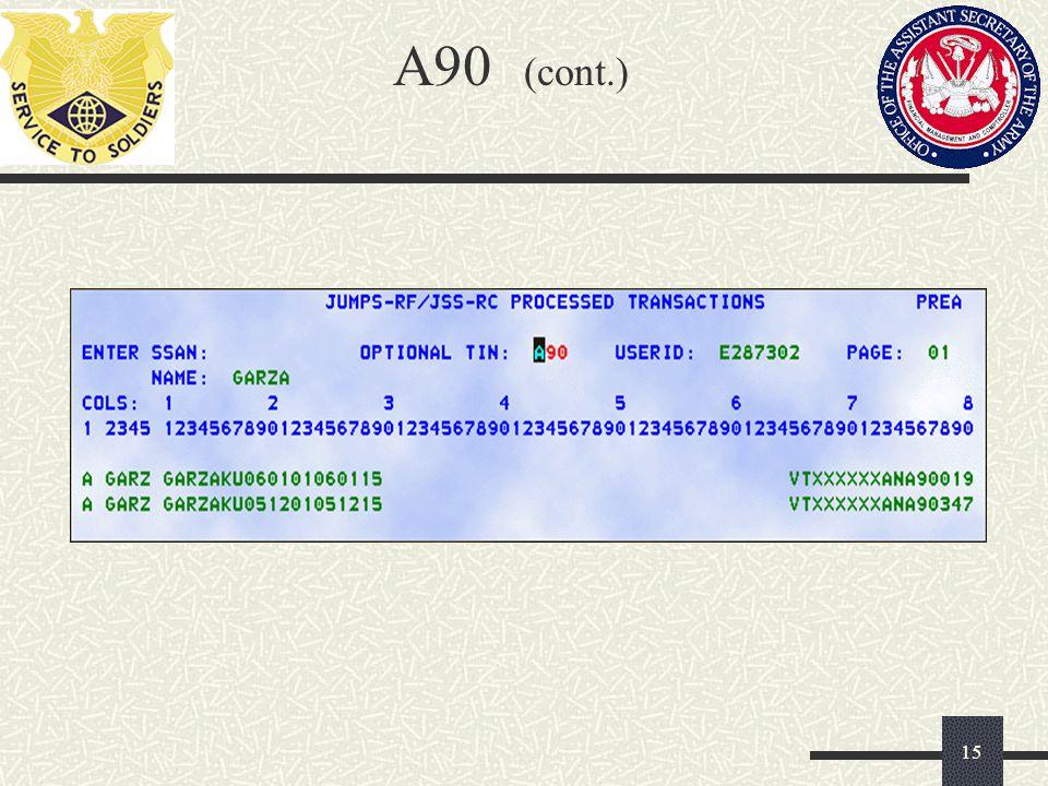 A90 (cont.) 15
