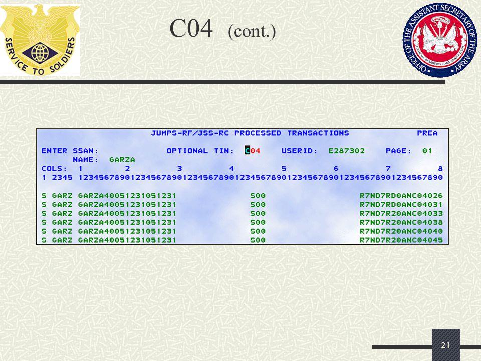 C04 (cont.) 21
