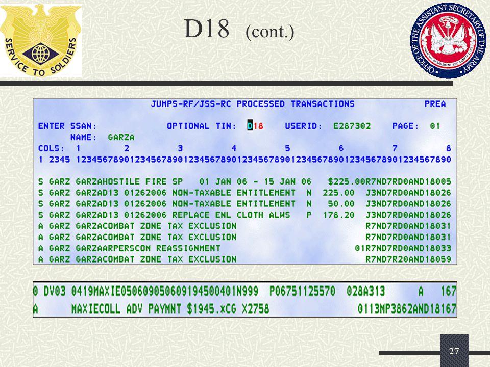 D18 (cont.) 27