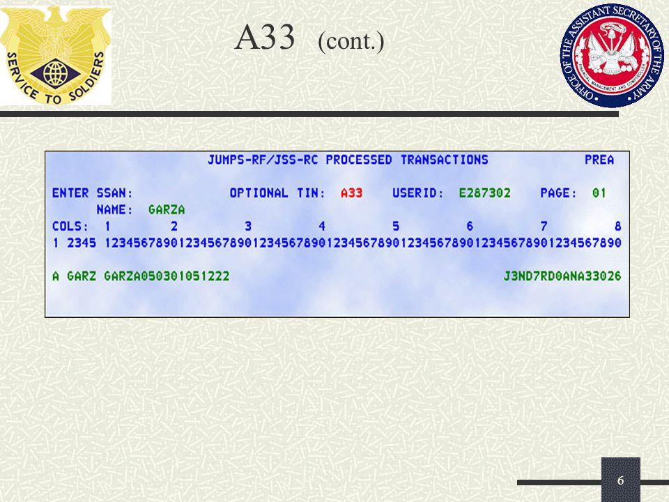 A33 (cont.) 6