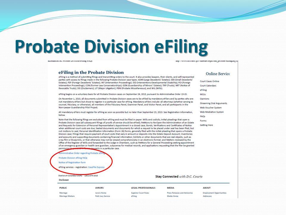Probate Division eFiling
