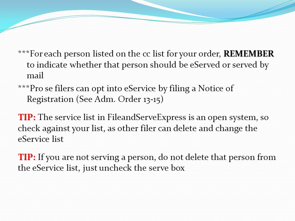 REASON #7 Stale Certificate of Service *Stale if either filed before service or within 5 days after service.