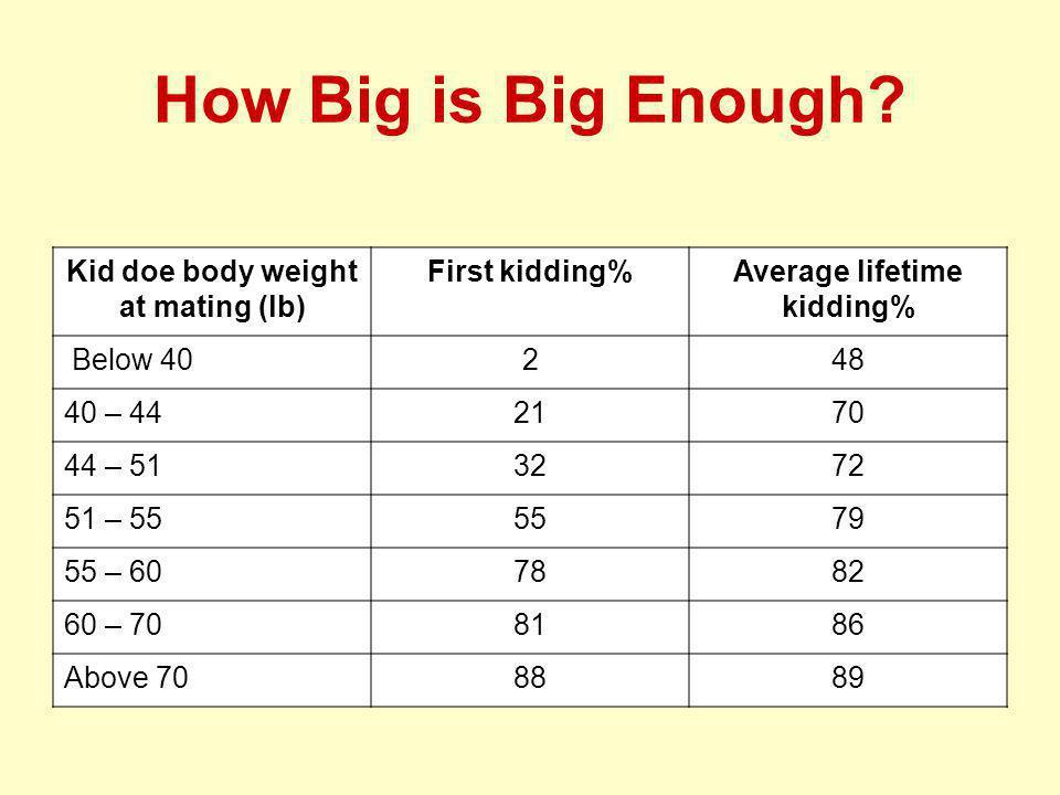 How Big is Big Enough.