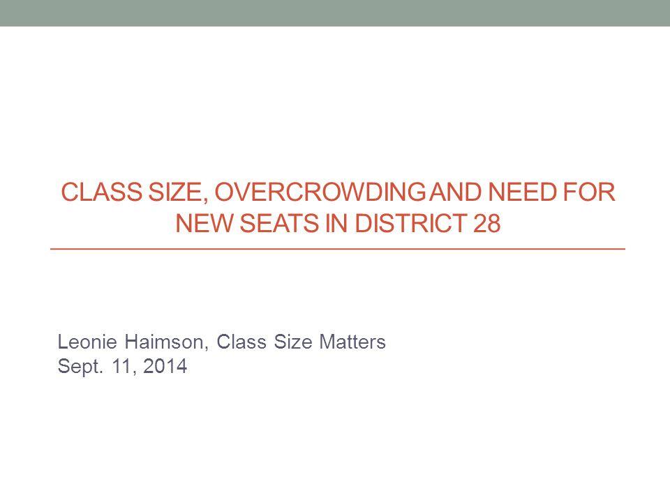 Leonie Haimson, Class Size Matters Sept.