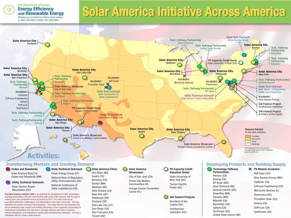 16 Solar America Initiative map: