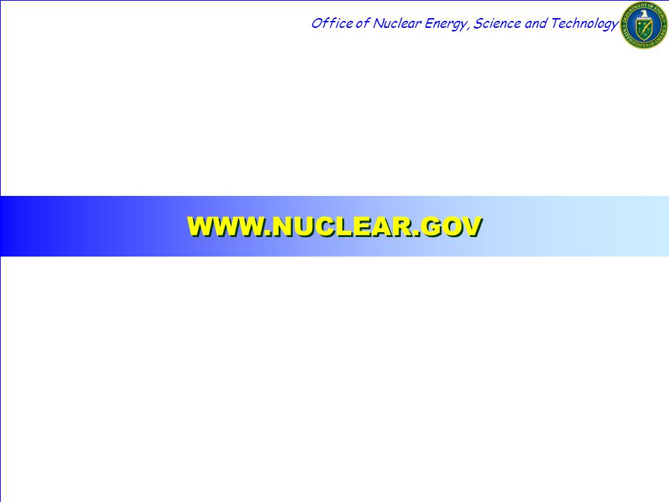 WWW.NUCLEAR.GOV Office of Nuclear Energy, Science and Technology