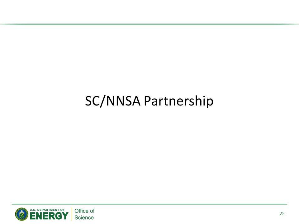 SC/NNSA Partnership 25