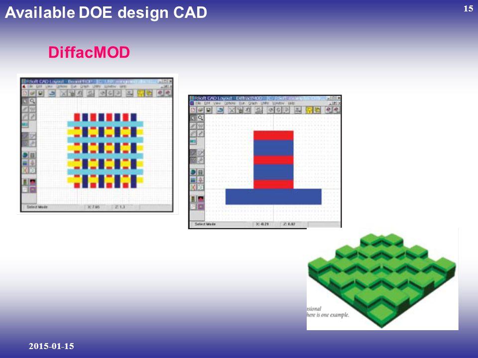 2015-01-15 15 DiffacMOD Available DOE design CAD