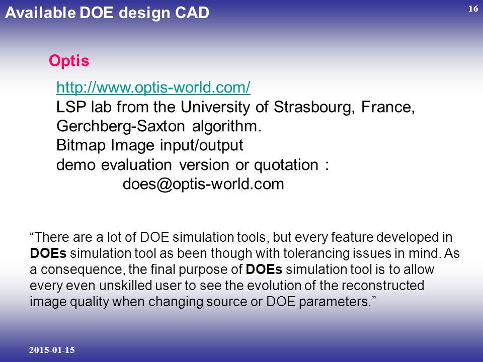 2015-01-15 16 http://www.optis-world.com/ LSP lab from the University of Strasbourg, France, Gerchberg-Saxton algorithm.