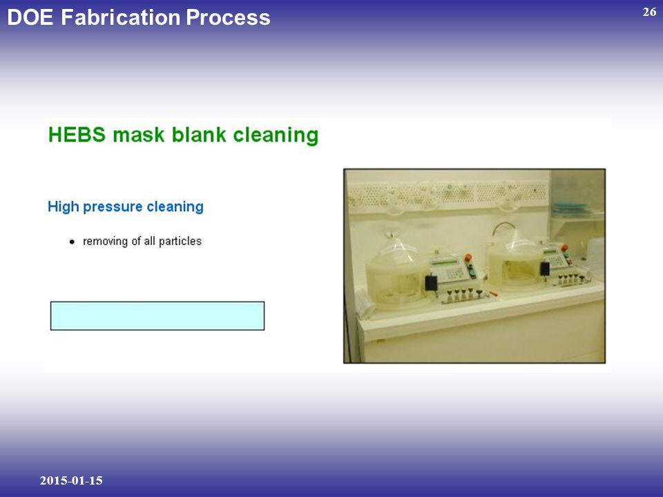 2015-01-15 26 DOE Fabrication Process