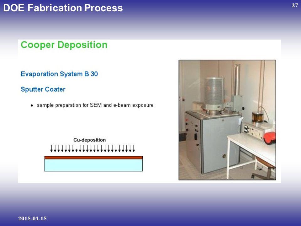 2015-01-15 27 DOE Fabrication Process