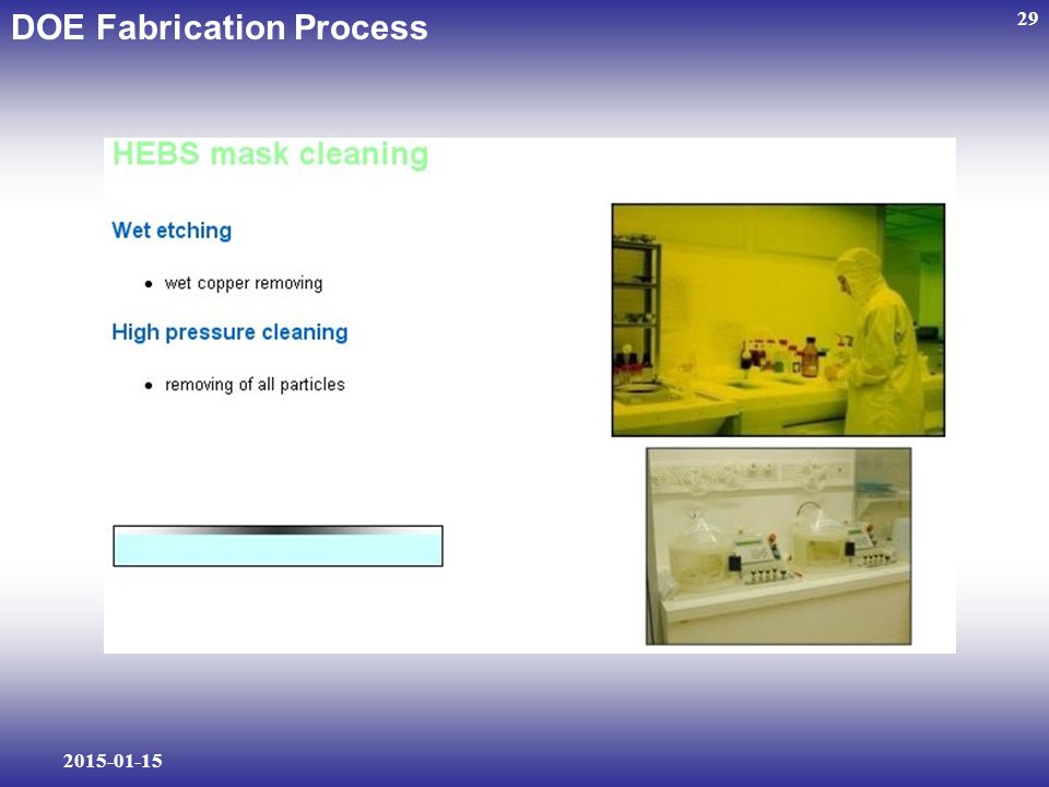 2015-01-15 29 DOE Fabrication Process