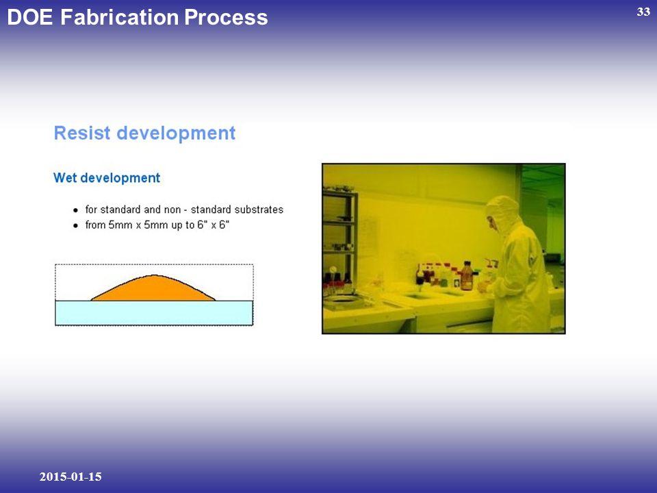 2015-01-15 33 DOE Fabrication Process