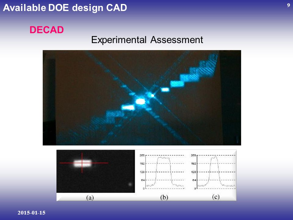 2015-01-15 9 Available DOE design CAD DECAD Experimental Assessment