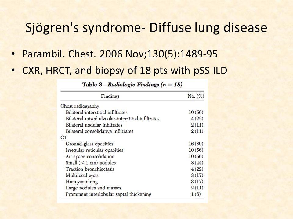 Sjögren s syndrome- Diffuse lung disease Parambil.