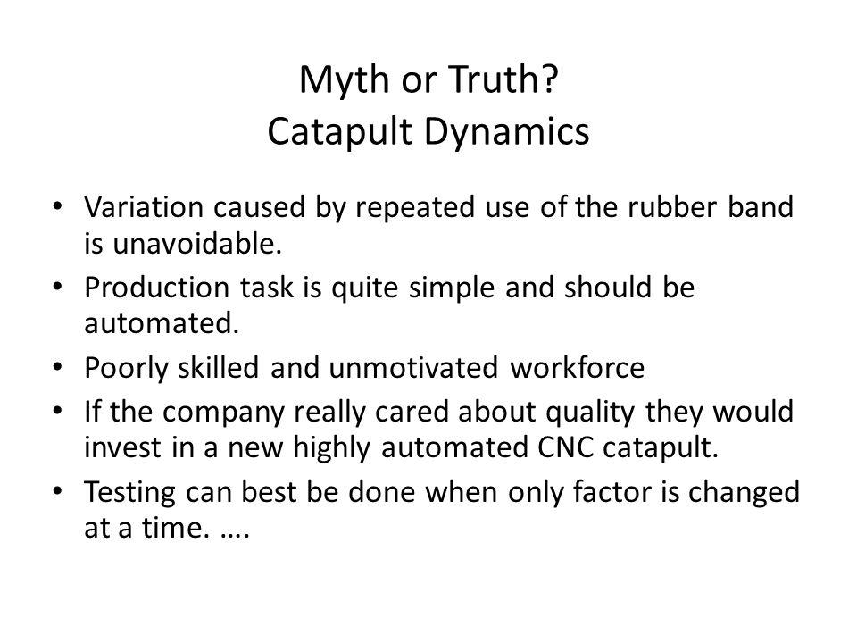 Myth or Truth.