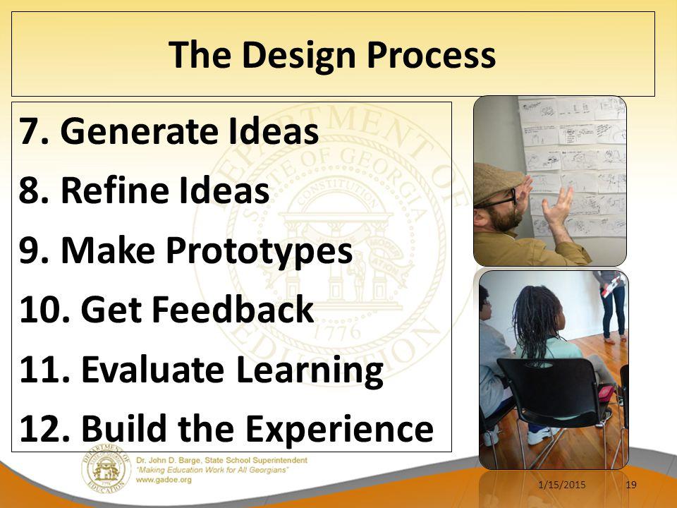 The Design Process 7.Generate Ideas 8. Refine Ideas 9.