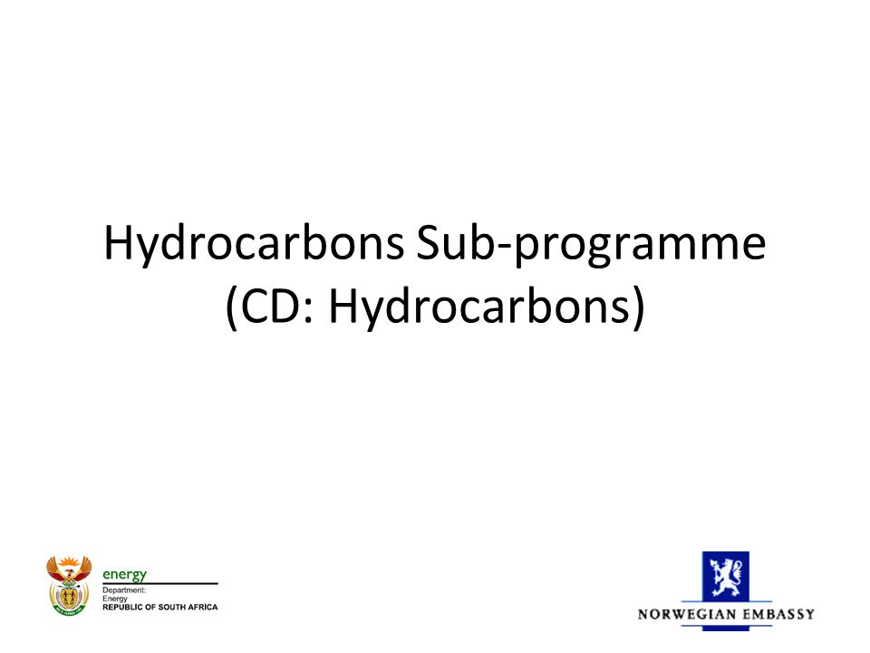Hydrocarbons Sub-programme (CD: Hydrocarbons)