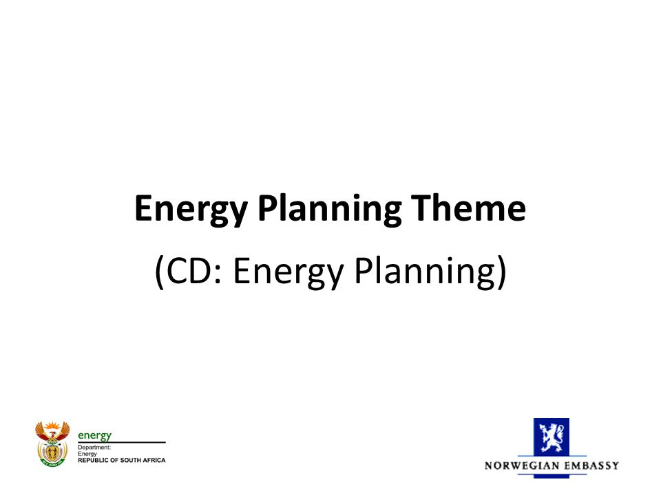 Energy Planning Theme (CD: Energy Planning)