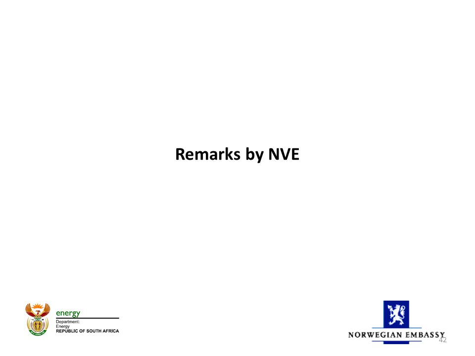Remarks by NVE 42