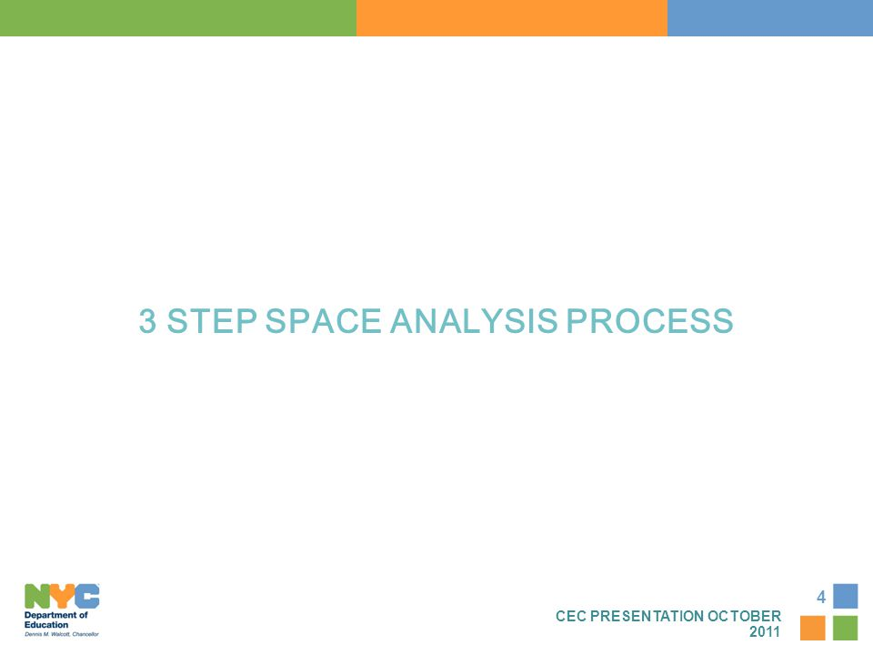 4 3 STEP SPACE ANALYSIS PROCESS CEC PRESENTATION OCTOBER 2011