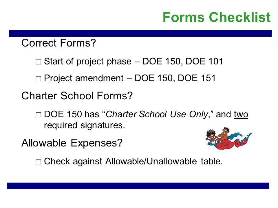 Forms Checklist Correct Forms.