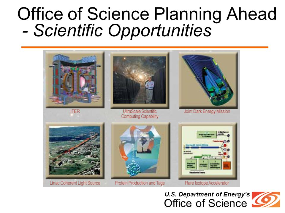U.S. Department of Energy's Office of Science Office of Science Planning Ahead - Scientific Opportunities