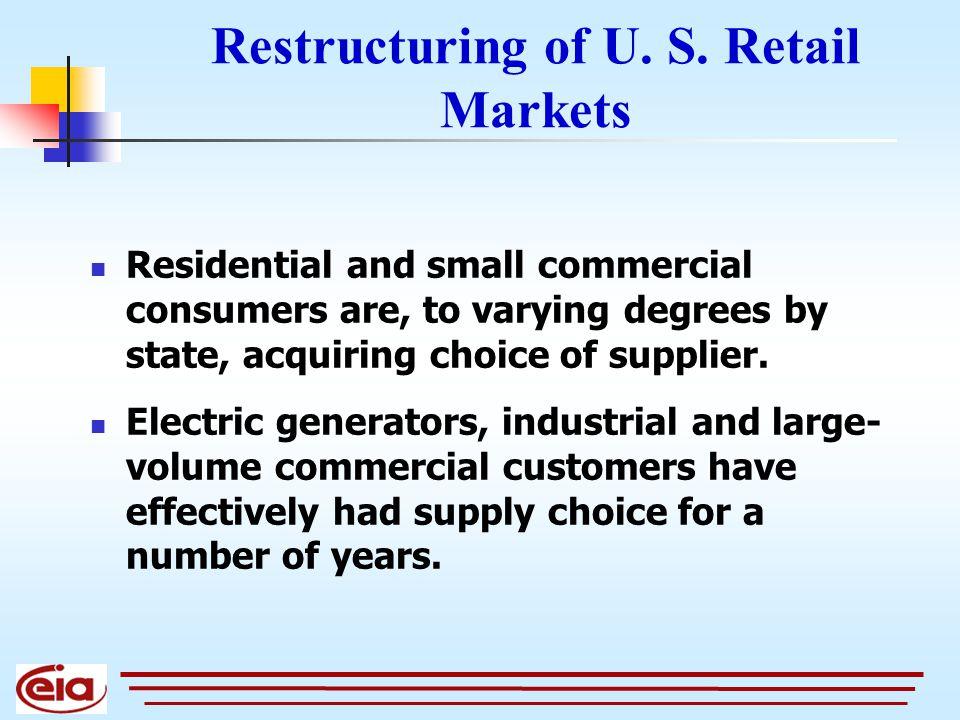 Restructuring of U. S.