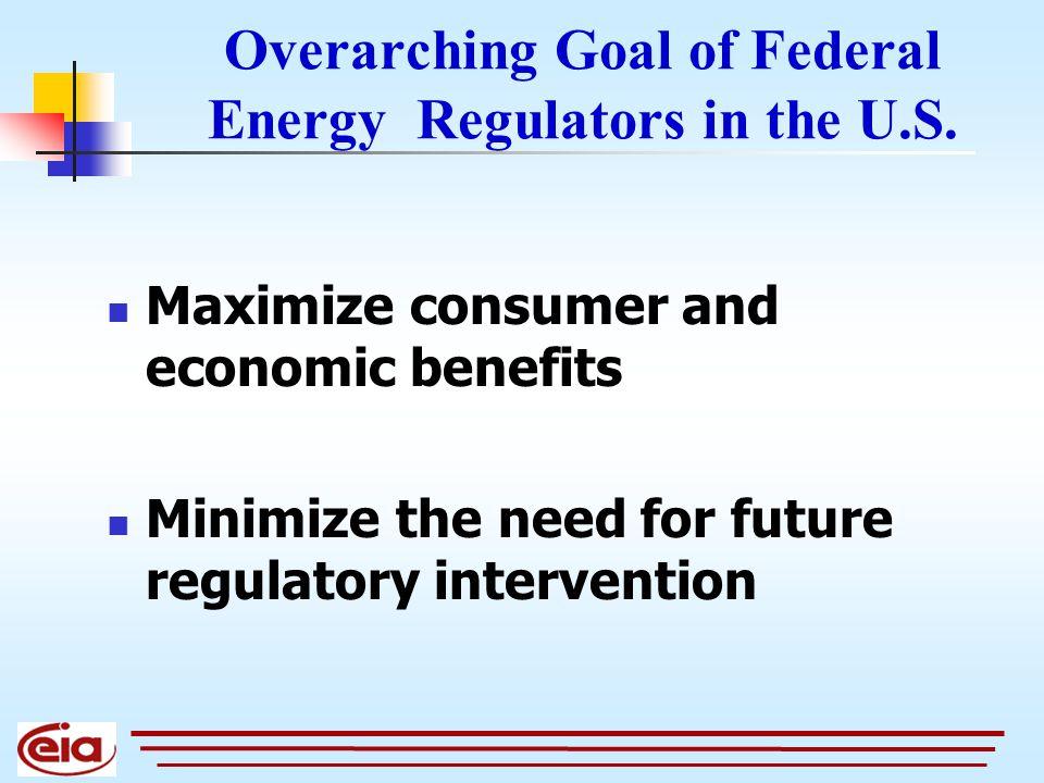 Overarching Goal of Federal Energy Regulators in the U.S.