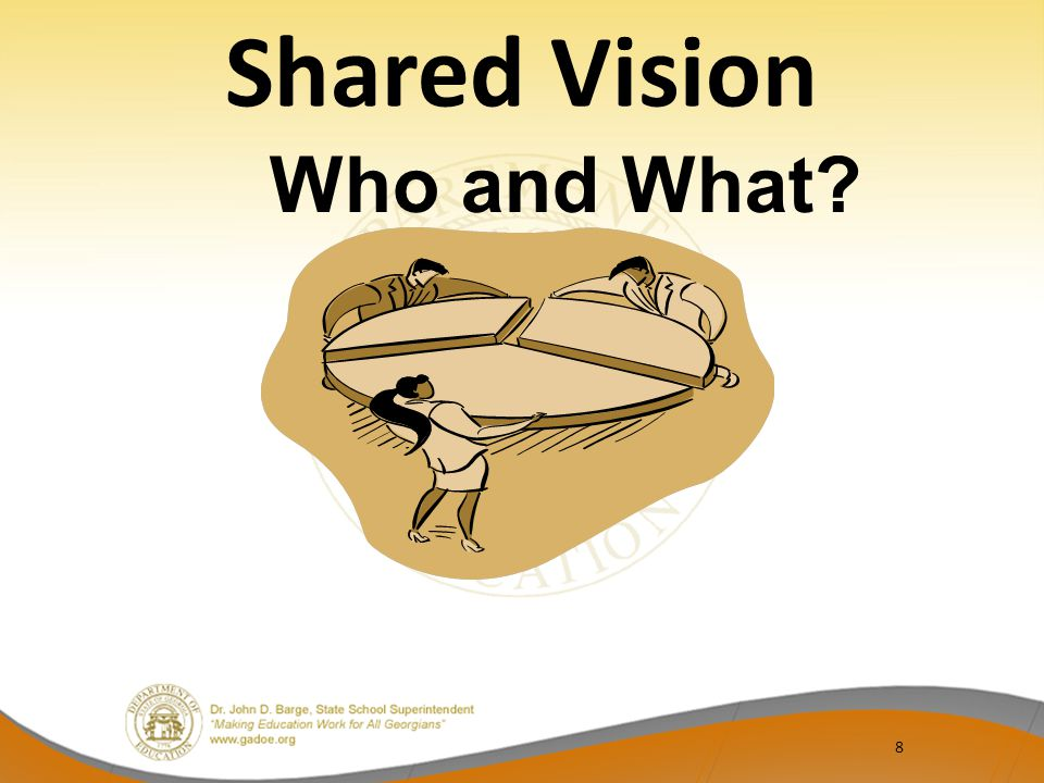 Shared Vision 8 Who and What?