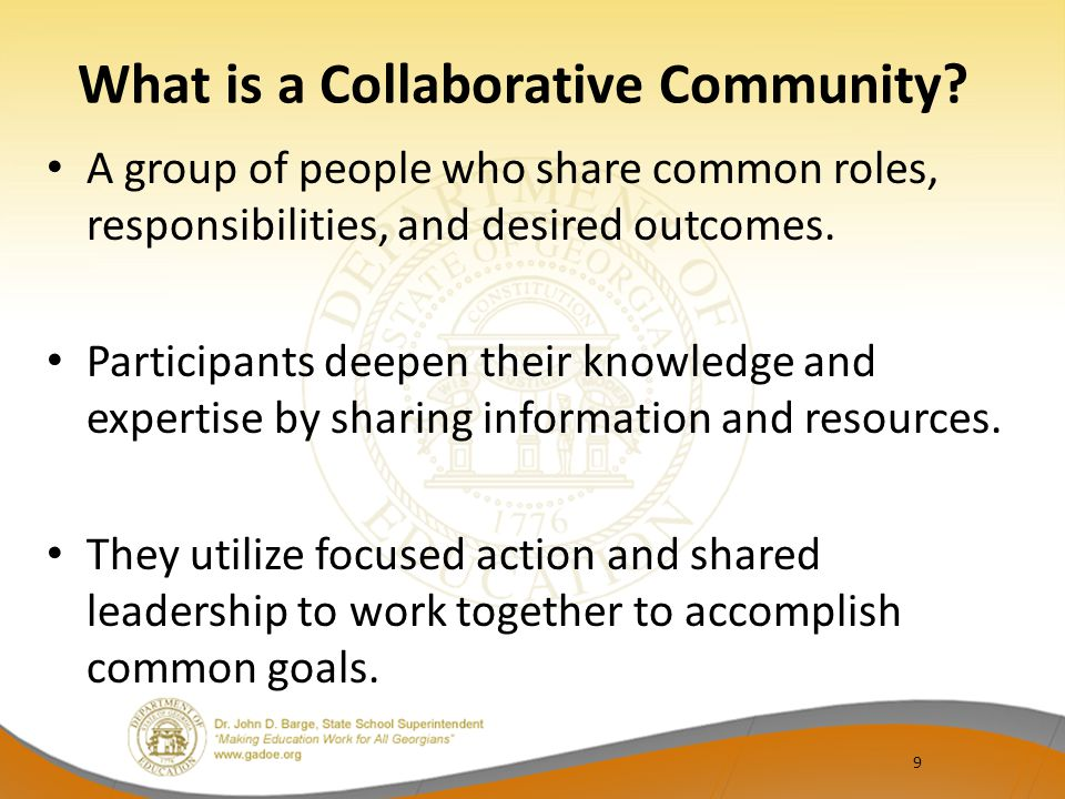 Differentiated Collaborative Communities Action plan – Issues/topics to be addressed – Actions to address issues – Resources needed – Target Dates – Work to be completed between sessions – Next Collaborative Community activity preparation – Others?