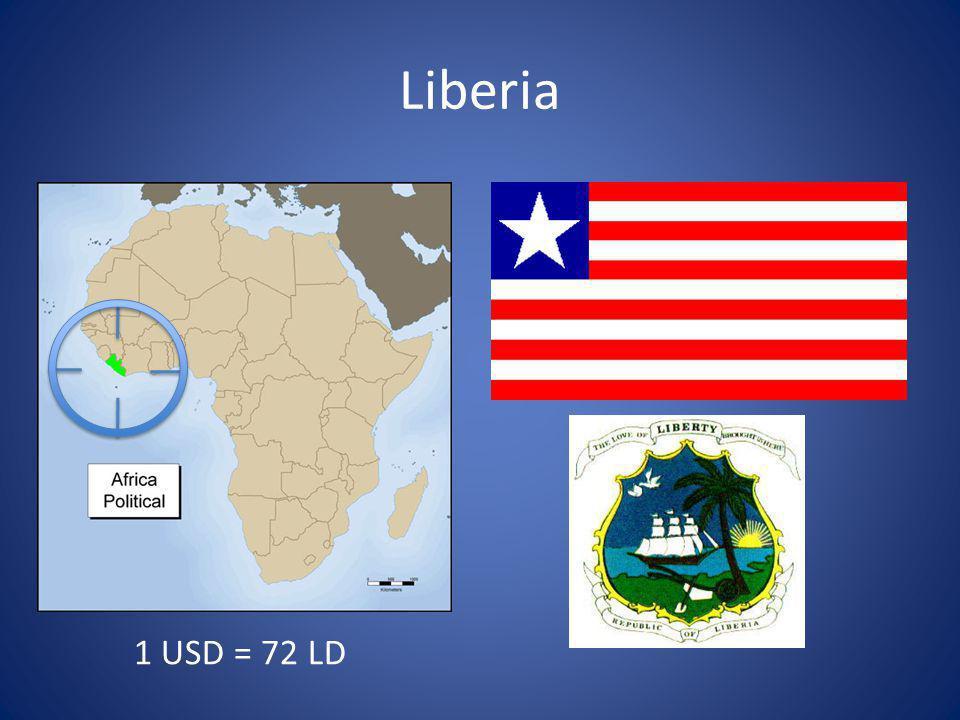 Liberia 1 USD = 72 LD