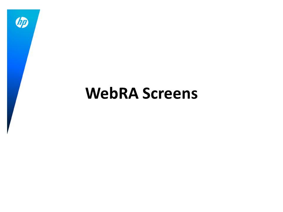 WebRA Screens