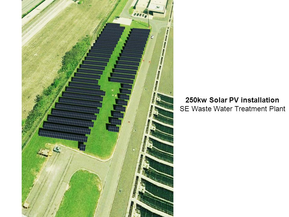 250kw Solar PV installation SE Waste Water Treatment Plant