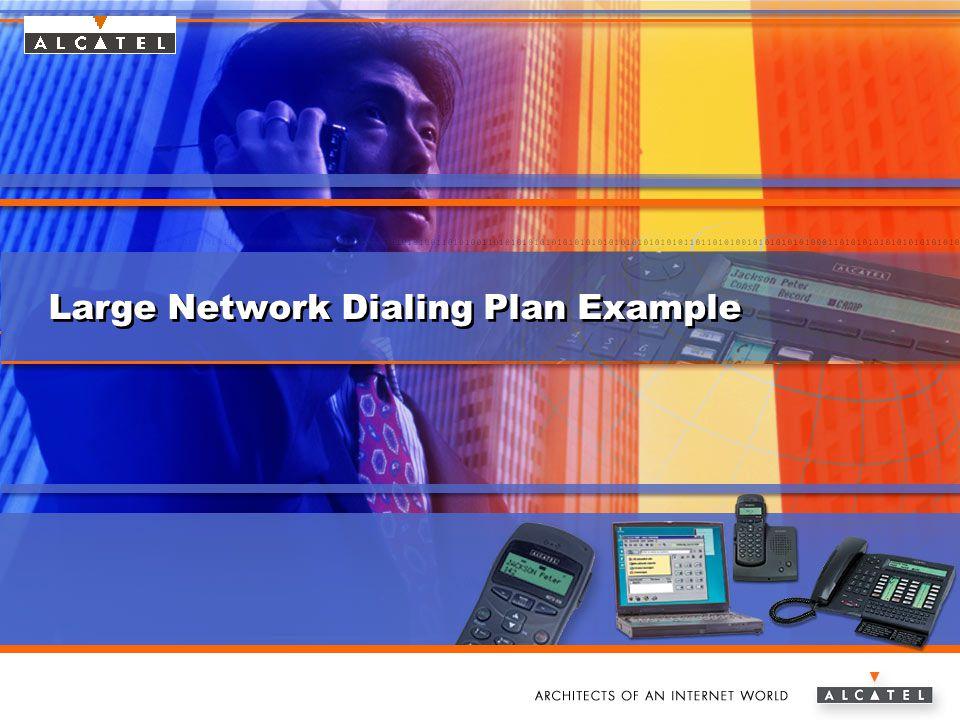 www.alcatel.com/enterpriseAlcatel e-Business Networking Large Network Dialing Plan Example