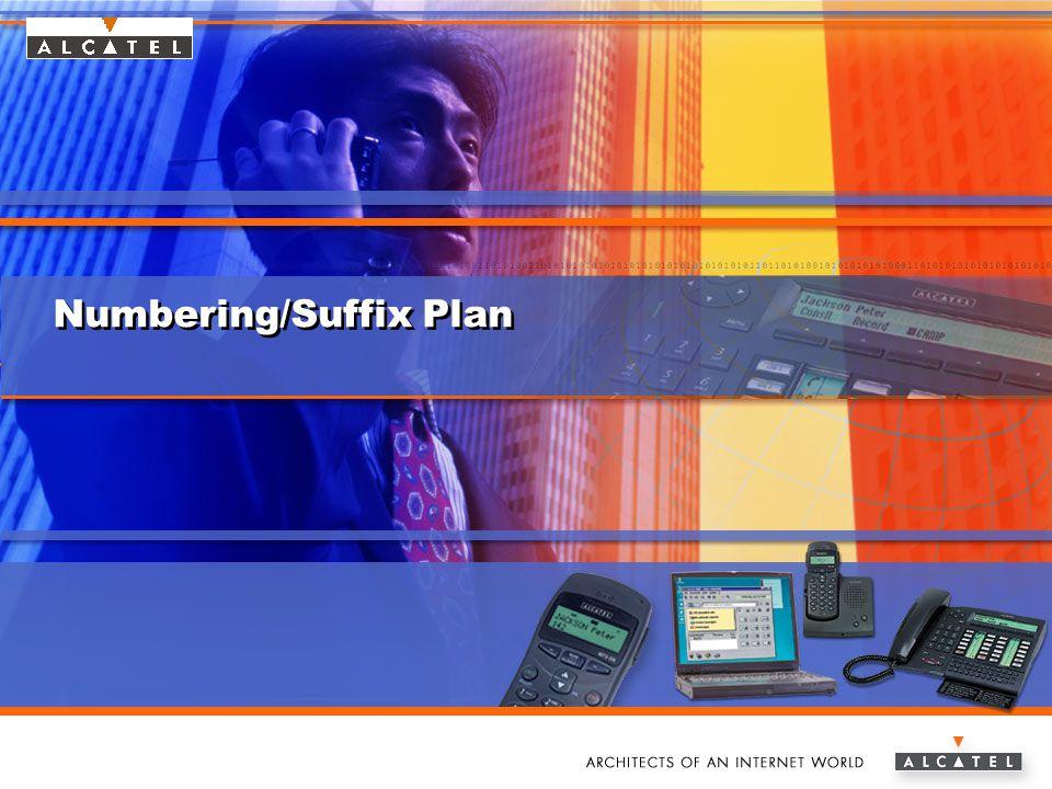 www.alcatel.com/enterpriseAlcatel e-Business Networking Numbering/Suffix Plan