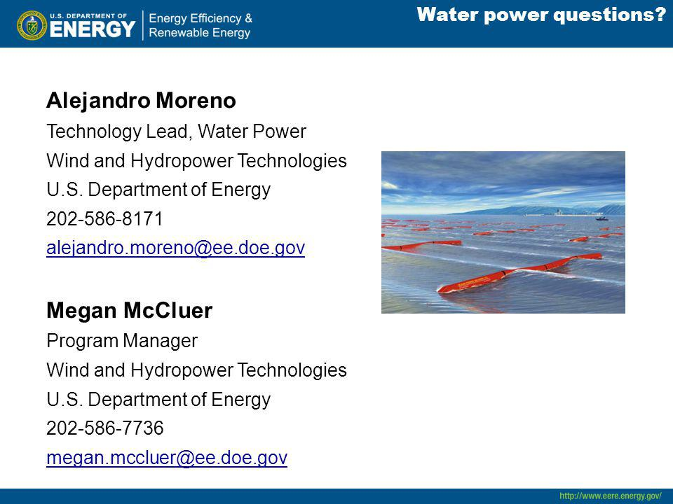 Water power questions.