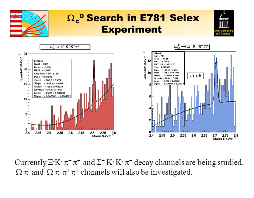  c 0 Search in E781 Selex Experiment Currently  - K -  +  + and  + K - K -  + decay channels are being studied.